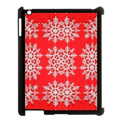 Background For Scrapbooking Or Other Stylized Snowflakes Apple Ipad 3/4 Case (black)