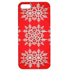 Background For Scrapbooking Or Other Stylized Snowflakes Apple iPhone 5 Hardshell Case with Stand by Nexatart