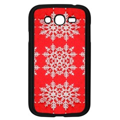 Background For Scrapbooking Or Other Stylized Snowflakes Samsung Galaxy Grand Duos I9082 Case (black)