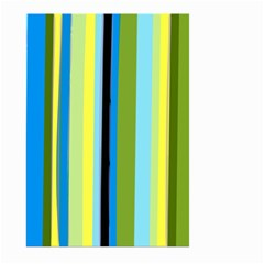Simple Lines Rainbow Color Blue Green Yellow Black Large Garden Flag (two Sides) by Alisyart