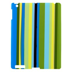Simple Lines Rainbow Color Blue Green Yellow Black Apple Ipad 3/4 Hardshell Case by Alisyart