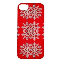Background For Scrapbooking Or Other Stylized Snowflakes Apple Iphone 5s/ Se Hardshell Case