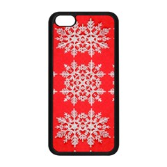 Background For Scrapbooking Or Other Stylized Snowflakes Apple Iphone 5c Seamless Case (black)