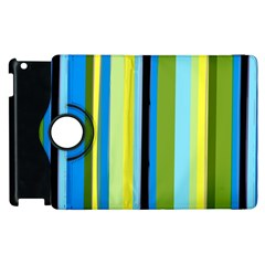 Simple Lines Rainbow Color Blue Green Yellow Black Apple Ipad 2 Flip 360 Case by Alisyart