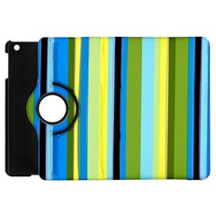 Simple Lines Rainbow Color Blue Green Yellow Black Apple Ipad Mini Flip 360 Case