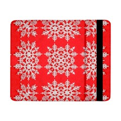 Background For Scrapbooking Or Other Stylized Snowflakes Samsung Galaxy Tab Pro 8 4  Flip Case by Nexatart