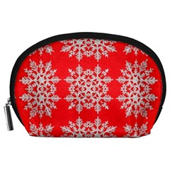 Background For Scrapbooking Or Other Stylized Snowflakes Accessory Pouches (large)