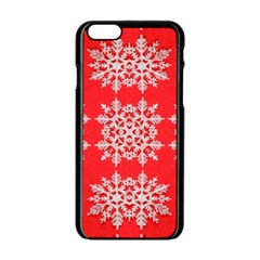 Background For Scrapbooking Or Other Stylized Snowflakes Apple Iphone 6/6s Black Enamel Case