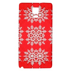 Background For Scrapbooking Or Other Stylized Snowflakes Galaxy Note 4 Back Case