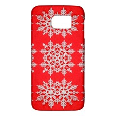 Background For Scrapbooking Or Other Stylized Snowflakes Galaxy S6 by Nexatart
