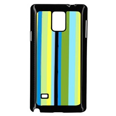 Simple Lines Rainbow Color Blue Green Yellow Black Samsung Galaxy Note 4 Case (black)