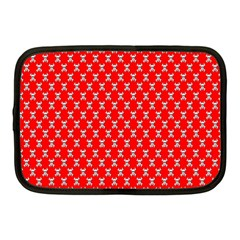 Red Skull Bone Texture Netbook Case (medium)  by Alisyart