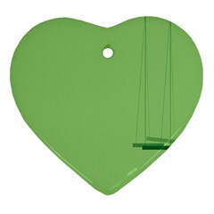 Swing Children Green Kids Ornament (heart) by Alisyart