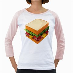 Sandwich Breat Chees Girly Raglans by Alisyart