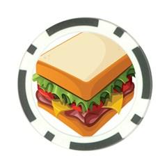 Sandwich Breat Chees Poker Chip Card Guard