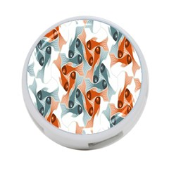 School Fish  Orange Grey 4 Port Usb Hub (one Side) by Alisyart