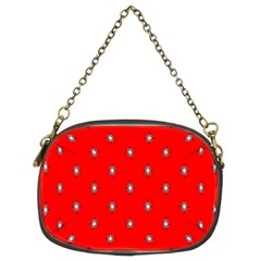 Simple Red Star Light Flower Floral Chain Purses (two Sides)