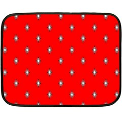 Simple Red Star Light Flower Floral Double Sided Fleece Blanket (mini)