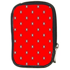 Simple Red Star Light Flower Floral Compact Camera Cases