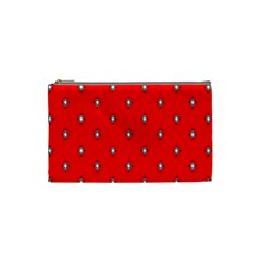 Simple Red Star Light Flower Floral Cosmetic Bag (small)