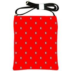 Simple Red Star Light Flower Floral Shoulder Sling Bags