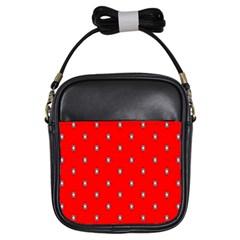 Simple Red Star Light Flower Floral Girls Sling Bags