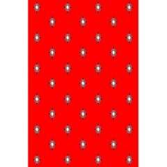 Simple Red Star Light Flower Floral 5 5  X 8 5  Notebooks
