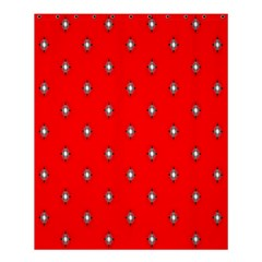 Simple Red Star Light Flower Floral Shower Curtain 60  X 72  (medium)