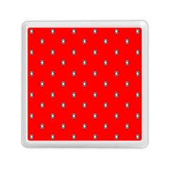 Simple Red Star Light Flower Floral Memory Card Reader (square)