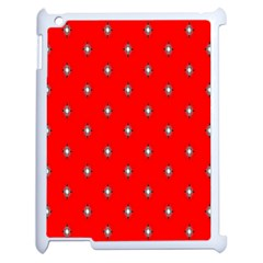 Simple Red Star Light Flower Floral Apple Ipad 2 Case (white)