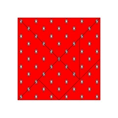 Simple Red Star Light Flower Floral Acrylic Tangram Puzzle (4  X 4 )