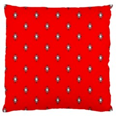 Simple Red Star Light Flower Floral Large Cushion Case (one Side)