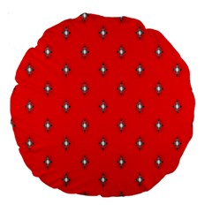 Simple Red Star Light Flower Floral Large 18  Premium Round Cushions