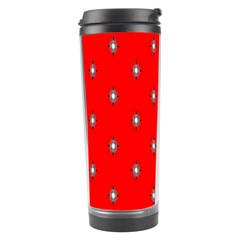 Simple Red Star Light Flower Floral Travel Tumbler