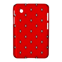 Simple Red Star Light Flower Floral Samsung Galaxy Tab 2 (7 ) P3100 Hardshell Case