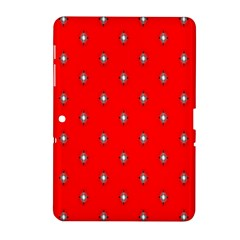 Simple Red Star Light Flower Floral Samsung Galaxy Tab 2 (10 1 ) P5100 Hardshell Case