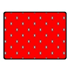 Simple Red Star Light Flower Floral Double Sided Fleece Blanket (small)