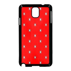 Simple Red Star Light Flower Floral Samsung Galaxy Note 3 Neo Hardshell Case (black)