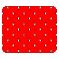 Simple Red Star Light Flower Floral Double Sided Flano Blanket (small)