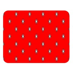 Simple Red Star Light Flower Floral Double Sided Flano Blanket (large)