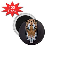 Tiger Face Animals Wild 1 75  Magnets (100 Pack)  by Alisyart