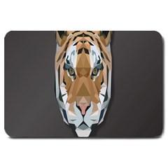 Tiger Face Animals Wild Large Doormat