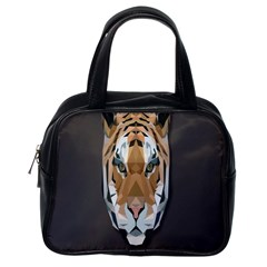 Tiger Face Animals Wild Classic Handbags (one Side)