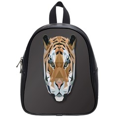 Tiger Face Animals Wild School Bags (small)