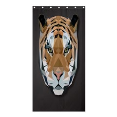 Tiger Face Animals Wild Shower Curtain 36  X 72  (stall)