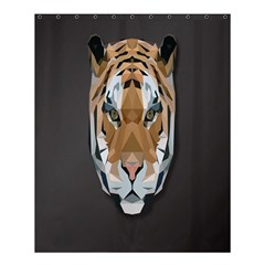 Tiger Face Animals Wild Shower Curtain 60  X 72  (medium)
