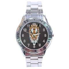 Tiger Face Animals Wild Stainless Steel Analogue Watch by Alisyart