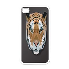 Tiger Face Animals Wild Apple Iphone 4 Case (white)