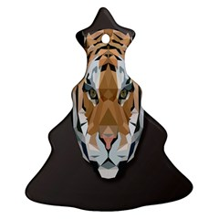 Tiger Face Animals Wild Ornament (christmas Tree)