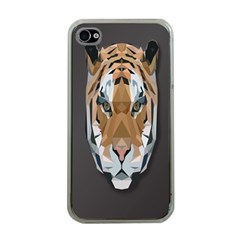 Tiger Face Animals Wild Apple Iphone 4 Case (clear)